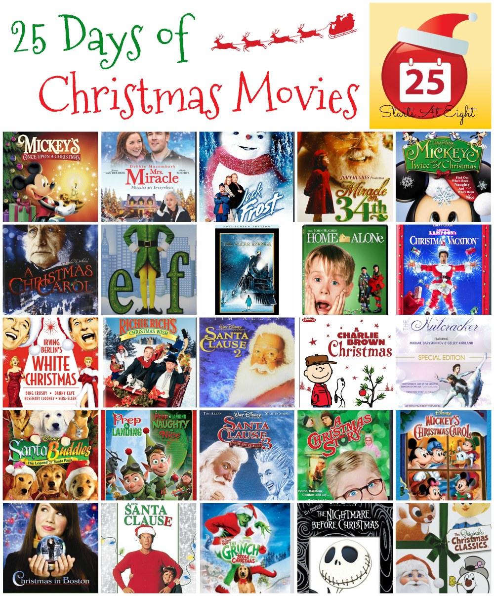An A-Z of festive films to watch this Christmascompiled