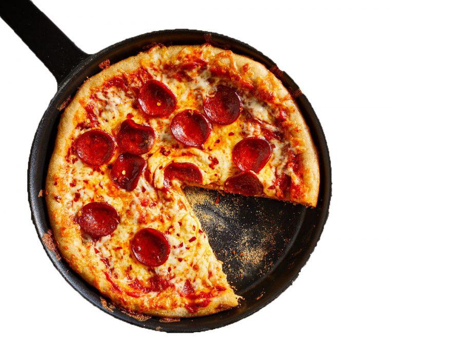 Pepperoni skillet pizza