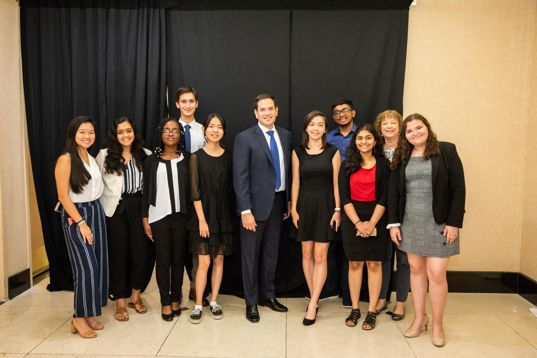 Suncoast students with Senator Marco Rubio.